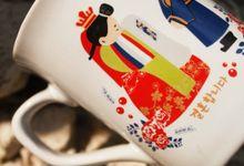 MUG NESCAFE DESIGN KOREAN WEDDING by Mug-App Wedding Souvenir