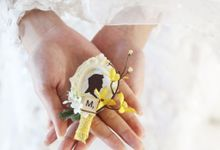 Custom Boutonniere / Corsage by The Bride and Butter