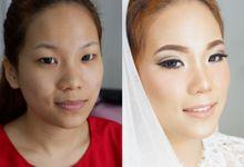 Makeup wedding by Debbolive Makeup