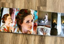 Modern wedding album by Bespoke Albums