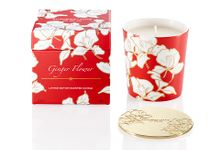 Ginger Flower Bone China Scented Candle W Lid by Shanghai Tang