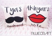 Wedding Couple Pillow by PluieCraft