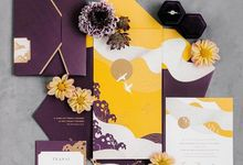 Japanese Theme Invitation by Pensée invitation & stationery
