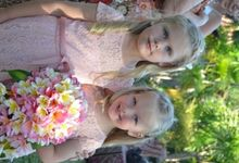 Our little helpers by Bali Villa Weddings and Events