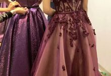 Burgundy Sister of the Bride by Sisca Zh