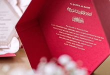 An usher to a garden wedding of Iman Azizah by Tapestry Invitation