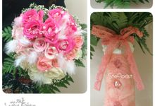 Heart bouquet by Ste Florist