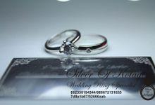 cincin kawin muslim emas putih 18 k (Gold-Palladium) + Platinum by Silverofkotagede
