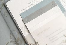 Chris & Eliza by Pensée invitation & stationery