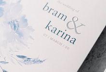 Floral watercolor for Bram & Karina's invites by Tapestry Invitation