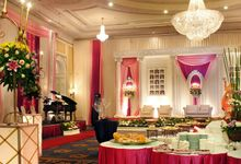 Buffet layout by Menara Peninsula Hotel