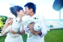 Bali Destination Solemnization Elegant by Angel Chua Lay Keng Makeup and Hair