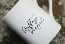 MUG NESCAFE MINI WEDDING JEFFRY & ANGEL by Mug-App Wedding Souvenir