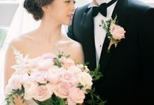 Classy Romantic Dusty-Pink Wedding Celebration by Le Fairymeadow