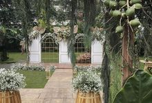 Wedding Rara dan Rama @kapulaga resto bandung by Gempita Deco