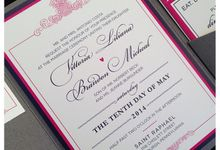 Wedding stationery portfolio  by Hello Beautiful Designs