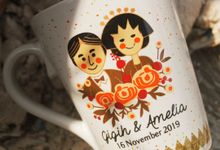 MUG V WEDDING GIGIH & AMELIA by Mug-App Wedding Souvenir