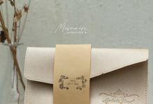 Envelope Pouch E2 in Milk Cream by Memoire Souvenir