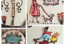 Je t' aime by Rolling Pin Sugar Art