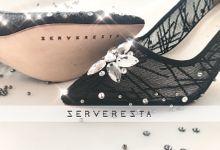 Vinette Flower Pattern - Black by SERVERESTA