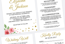 Invitation suite & Stationary designing for weddings and other occasions ons by Turquoise Luna Co