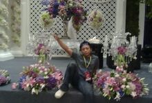 stage decoration by W Floral Design (wedding & event decoration) in Bali