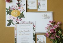 Andre & Christine Floral Wedding Invitation by Bluebelle Invitations