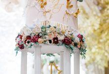 Luxurious Garden Theme - Sheraton Grand Jakarta by Ivoire Cake Design