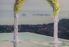Over Water Wedding by Dream Asia Weddings