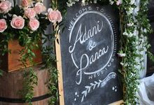 Adani and Panca's Home Rustic Garden Wedding by Peach Theory Decor + Design