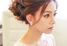 Bridal Airbrush Makeup and Hairstyling - Sophisicated, Classic Elegance and Glamourous by Sylvia Koh Makeup and Hairstyling
