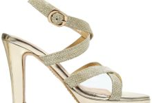 Strappy Heels by Andre Valentino Bridal Shoes