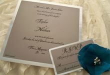 Metal Invitations by Ink and Elegance