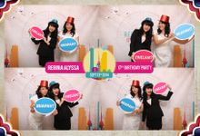 Allysa sweet 17 birthday by E'moment studio Photobooth