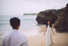 Calm Beach Engagement in Bali by fire, wood & earth