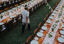 White Rustic Garden Wedding by The Beach by DIJON BALI CATERING