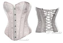 Simple Brocade Corset by D' Corselet Singapore