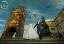 Prague destination pre wedding by Odelia Bridal