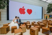 Apple Store - Actual Day Wedding (Suat & Jerymn) by Weili Yip Creations