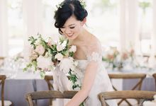 Blue & White Garden Wedding at Carneros Inn by Jen Huang Photo