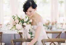 Blue & White Garden Wedding at Carneros Inn by Jen Huang Photo