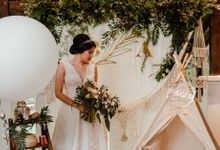 Rustic White Wedding of Astrina Chandra by Vicario Bride