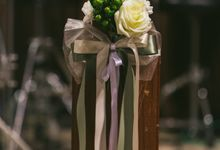 Church Wedding Flowers by Floraphil