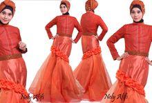 Wedding Dres Muslimah Organza Terakota by Wedding Dress Muslimah Designer