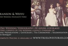 Full Day Feature of Branson & Weiyu by True Love Stories