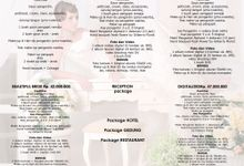 Pricelist Rubens Bridal by Rubens Wedding Planner