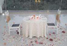 Candle light dinner on chapel by Green Forest Resort & Wedding