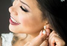 Pearl and Crystal Earrings Gold  Pearl Wedding Earrings by Twixt Designs