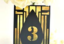 Art deco Table numbers by Jasmine wedding prints
