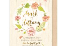 Floral Watercolour Wedding Invitations by Spick Studio